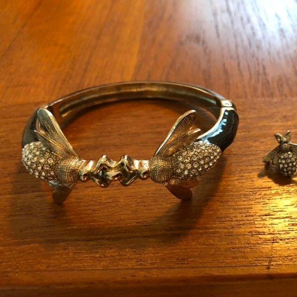 Talbots Jewelry - Talbots Bee Cuff Bracelet and Earrings